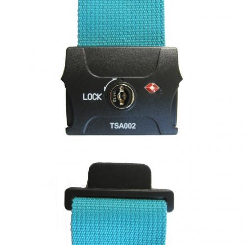TSAスーツケースベルト(鍵式) ブルー