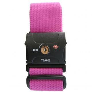 TSAスーツケースベルト(鍵式) ピンク
