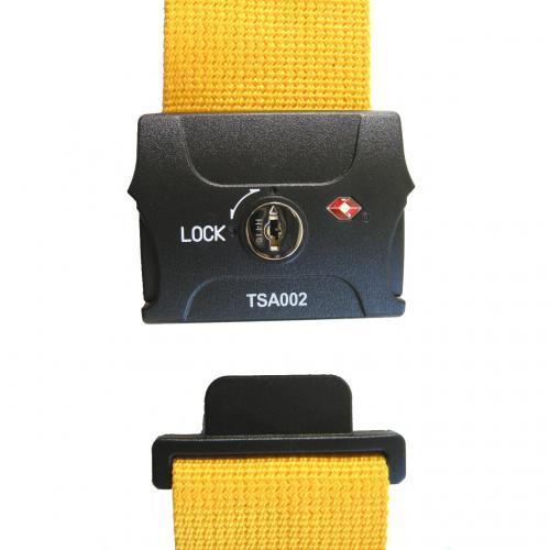TSAスーツケースベルト(鍵式) イエロー