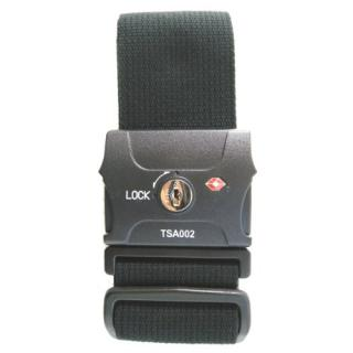 TSAスーツケースベルト(鍵式) ブラック