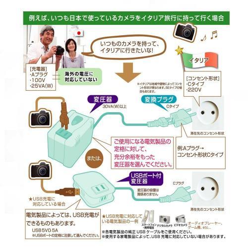 変圧器2口+USB
