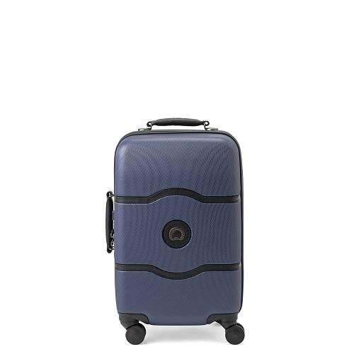 [1-3泊] デルセー シャトレーハードプラス 44L ブルー 4輪 Delsey CHATELET HARD+
