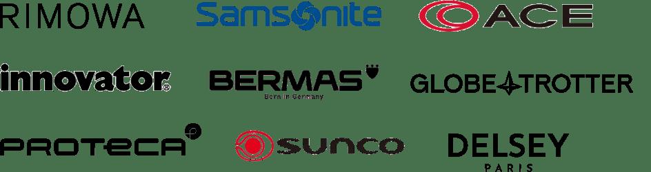 RIMOWA Samsonite ACE innovator BERMAS Antler PROTECA Sunco DELSEY